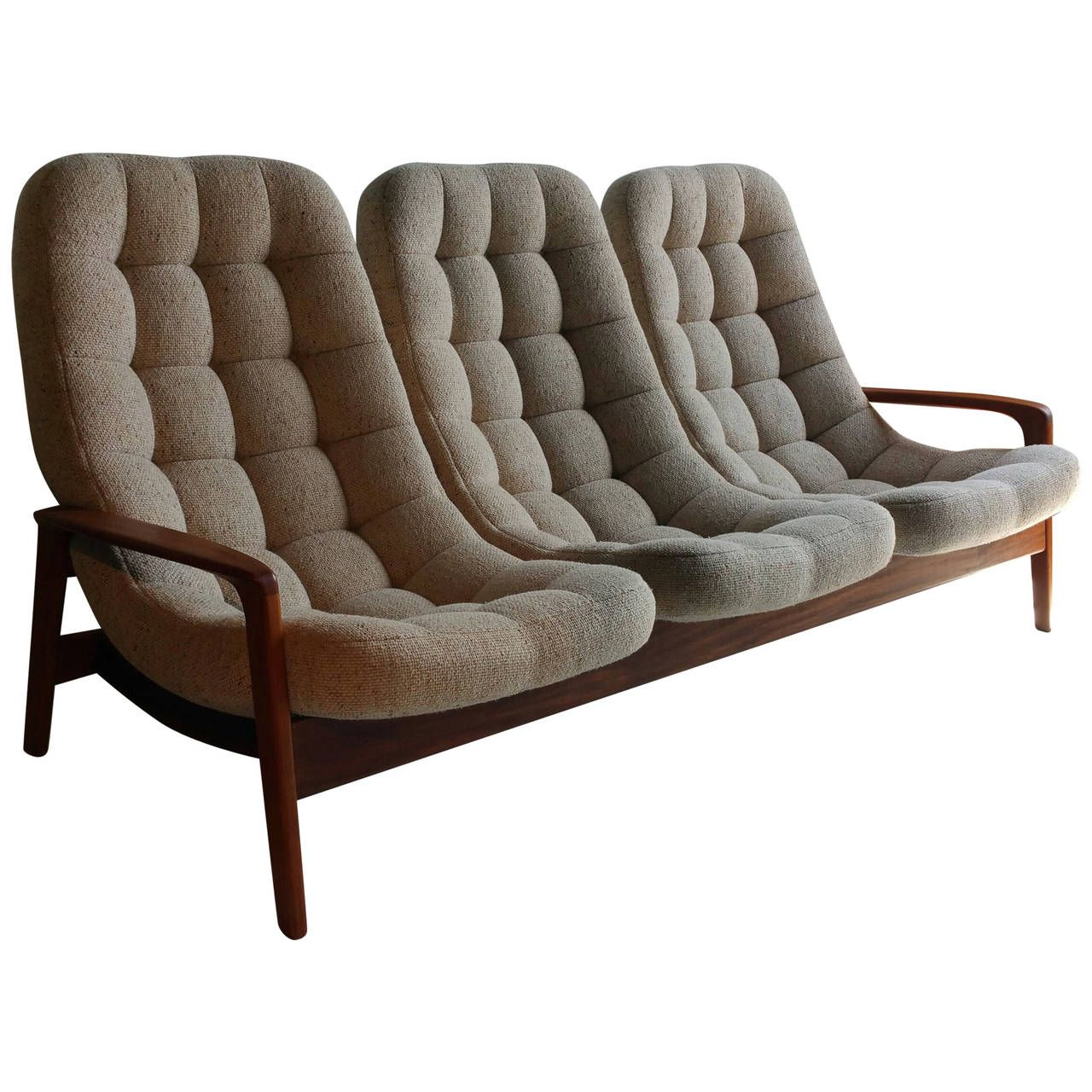 Teak Floating Egg Sofa By R Huber And Co Mid Century Danish In 2019