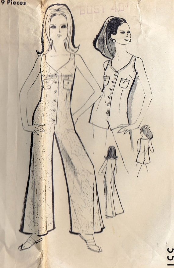 Maudella 5514 vintage sewing pattern, dated circa 1960s. Womens ...