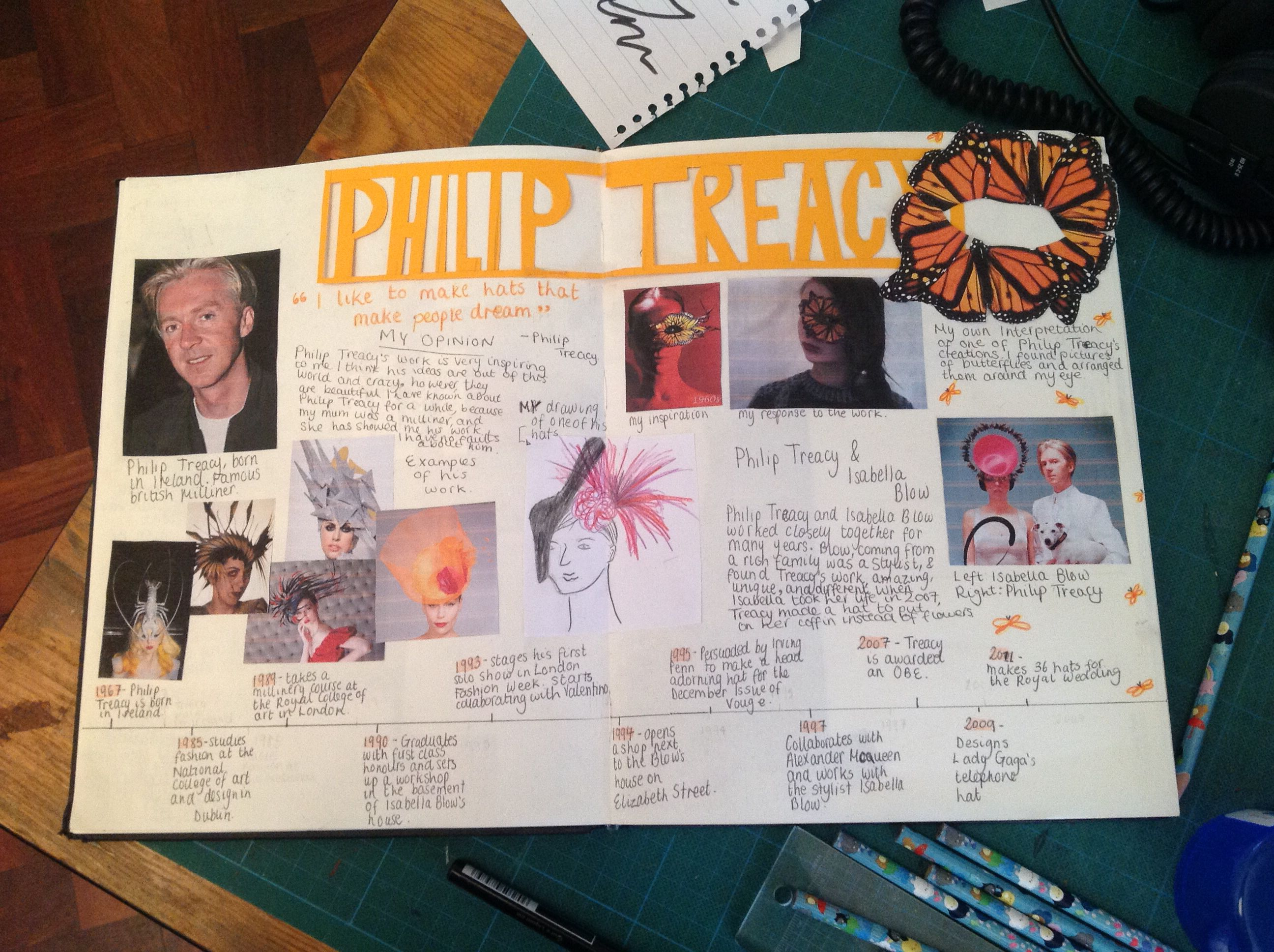Philip Treacy Artist Research Page