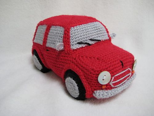 Ravelry: Amigurumi Classic Mini Inspired Car Toy pattern by Millionbells
