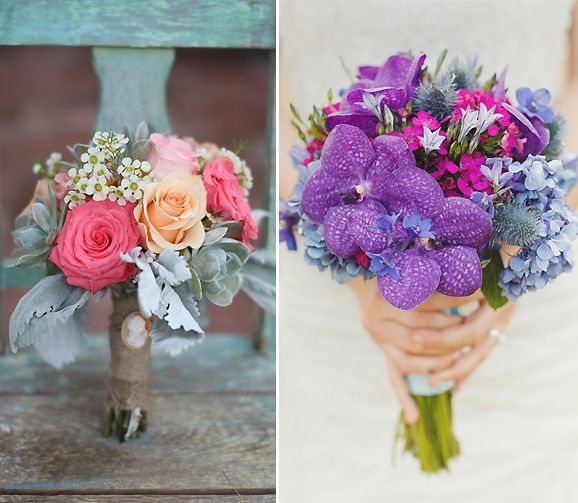Ramos de novia con mucho color | Weddings