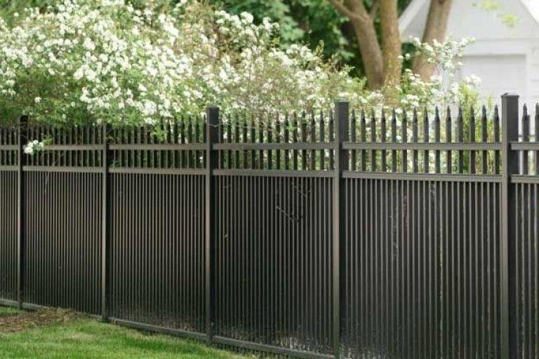 Black Aluminium Garden Fence Gate Aluminum Fence Backyard Fences Fence Design