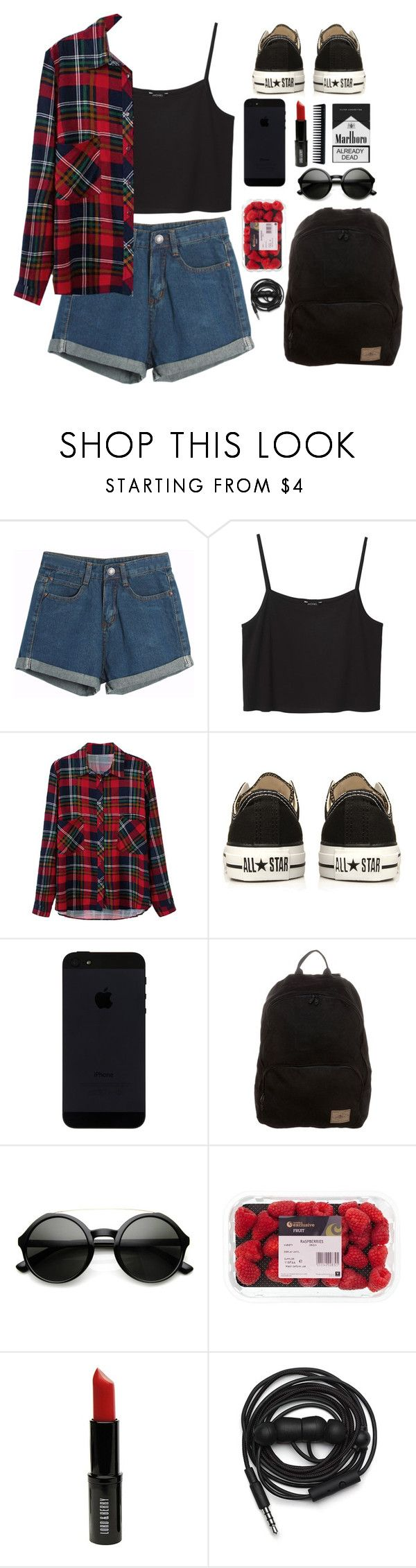 """Sin título #24"" by yanilobox ❤ liked on Polyvore featuring Chicnova Fashion, Monki, Converse, O'Neill, Retrò, Lord & Berry, Urbanears and GHD"