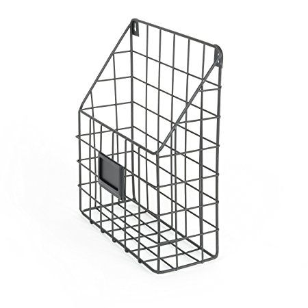 Wall File Holder Metal Mesh Wire Shelf Hanging Folder Mail Document Organizer Office Storage Black Rustic Industrial D Wall File Wall File Holder Wire Shelving