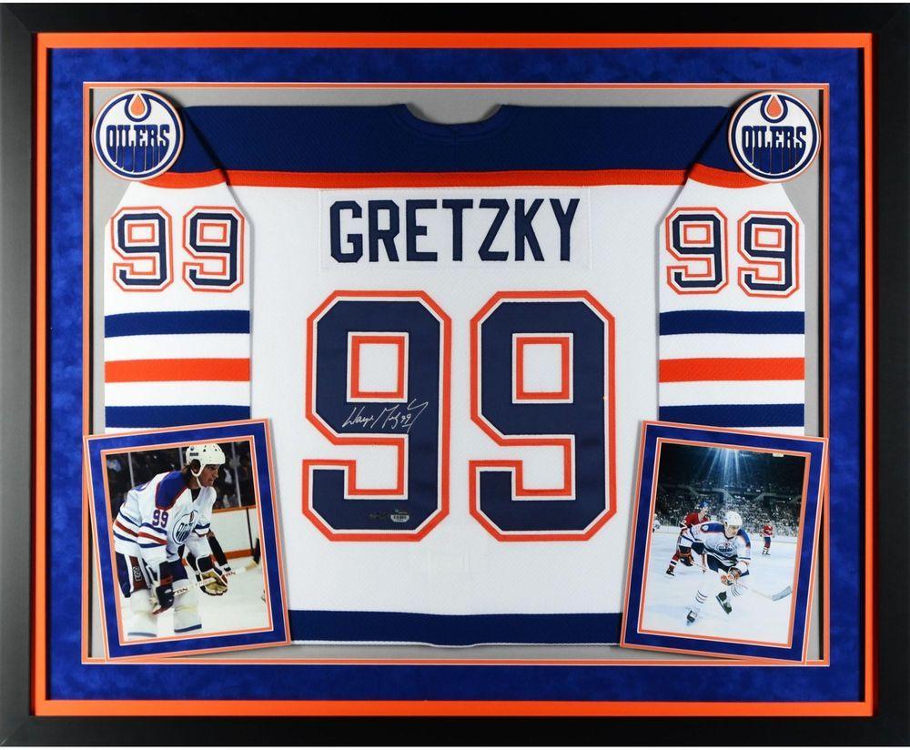 Wayne Gretzky Edmonton Oilers Framed Signed White CCM Jersey - Upper Deck 7860a233f