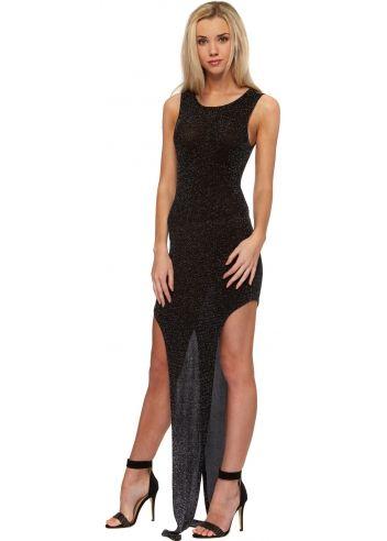 fdd6aafe1df Bill+Mar Little Star Cut Out Black Glitter Maxi Dress