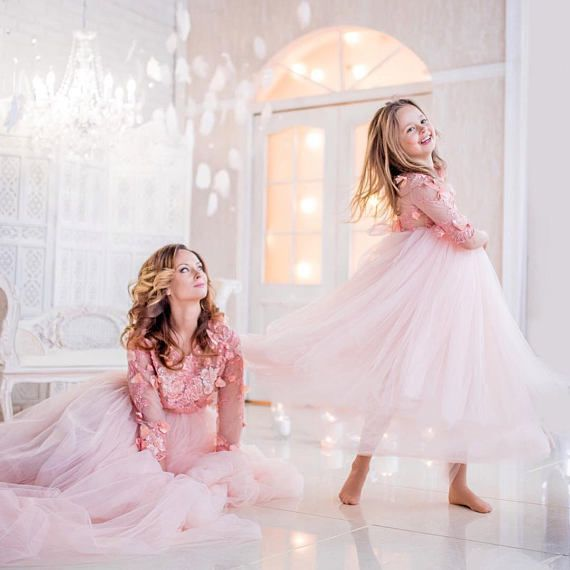 b6352b05b24b6 Image gallery for: Mother daughter matching dress light pink dress mommy and  me outfits mother daughter dress photo shoot photo session maxi dress