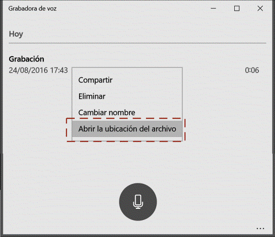 Grabadora de voz y sonidos de Windows