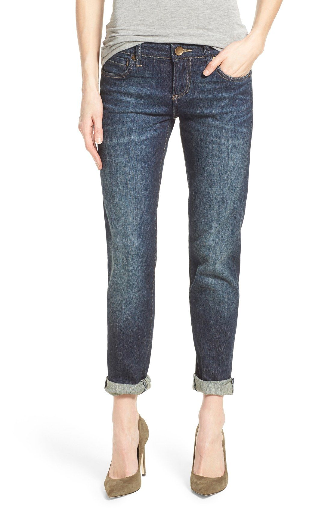 2963d57b111 KUT from the Kloth 'Catherine' Boyfriend Jeans (Royal) | My Style in ...
