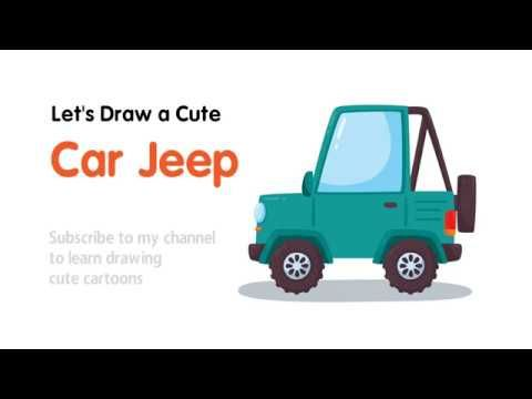 How to Draw an Off Road #Car #Jeep for #Kids Learning | How to Draw ...