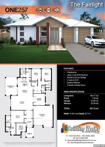 The Fairlight 4 Bedrooms Bathroom Wc Large Living Dining Area Double Lock Up Garage Ensuite Modular Home Floor Plans House Plans Custom Built Homes