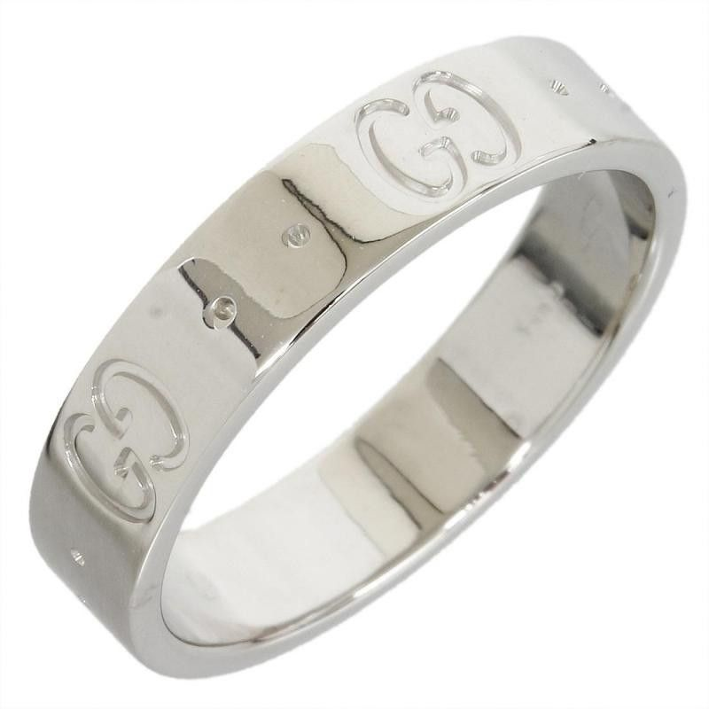 Gucci 18K White Gold Icon Ring US Size 4.75