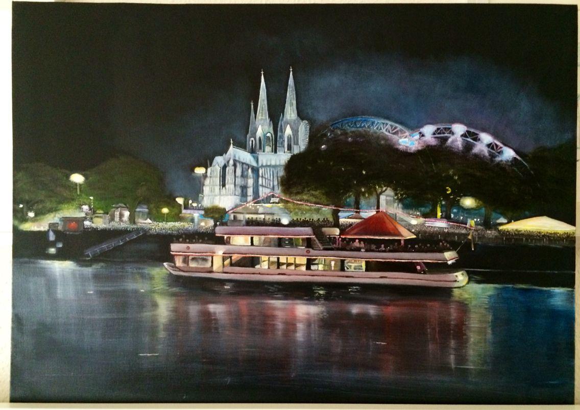 Kölner Lichter Ölmalerei