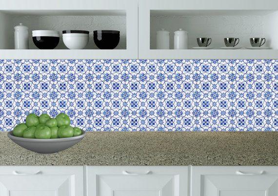 carrelage stickers set of 24 mexican tile kitchen decals home design rh pinterest com