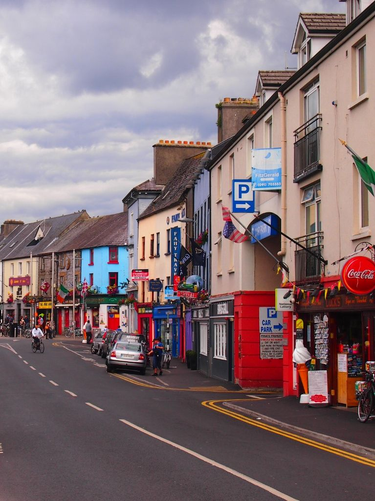 Colorful street in Galway, Ireland