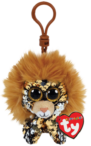 2019 TY FLIPPABLES REGAL the Lion Key Clip size Gift Show Exclusive