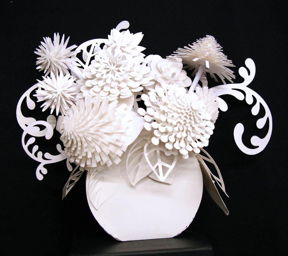 Paper Art Potpourri Love Paper Art Vase Of Flowers Cool