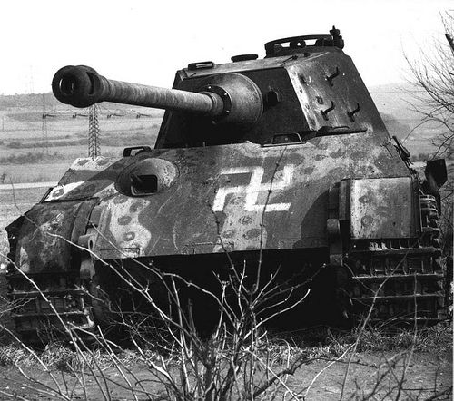 King Tiger Tank Battle Damage Knocked Out German Heavy Tank Pz