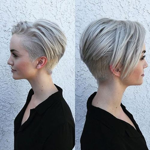 Image Result For Very Short Ombre Gray Hair