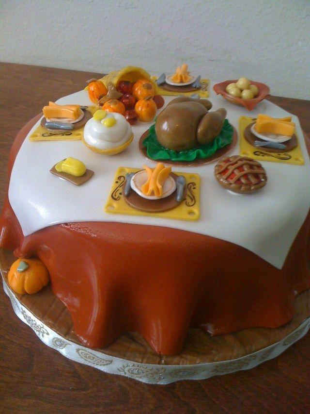 21+ Creative Image of Thanksgiving Birthday Cakes -   10 cake Beautiful thanksgiving ideas