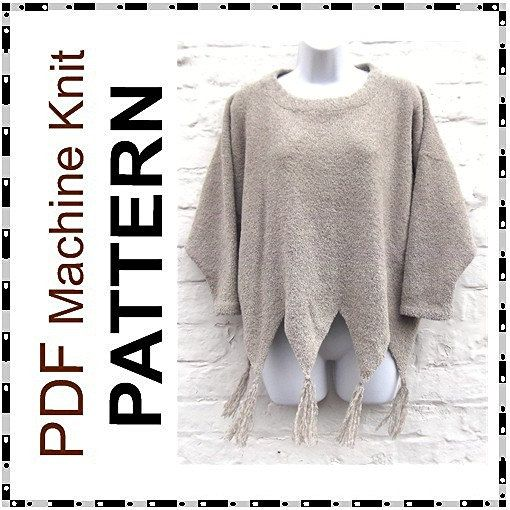 e5d8e7ca2 Machine knitting PDF pattern. Boxy Sweater in 4 by beaknitting ...