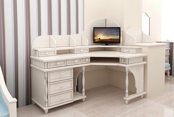 Компьютерный стол из натурального дерева (7537) цена ...