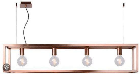 bol.com | Lucide Oris - Hanglamp - incl 6 x kooldraad gloeilamp - Rood koper | Wonen...