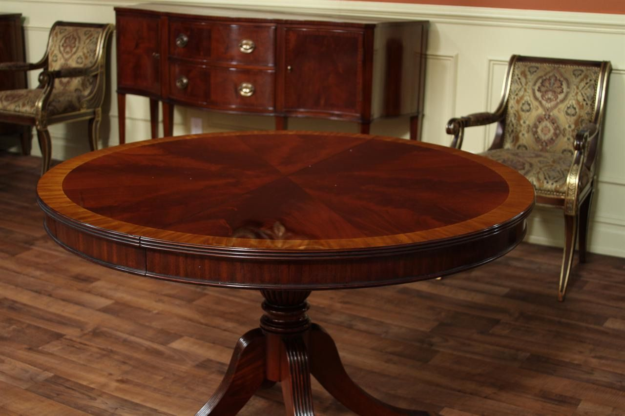 100 Antique Round Dining Table With Leaves Best Color Furniture