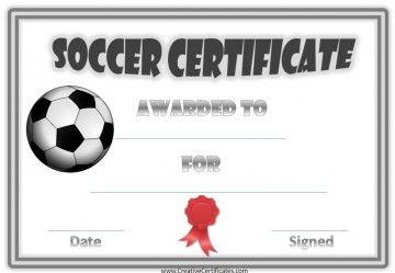 Soccer Award Certificates  Outdoor