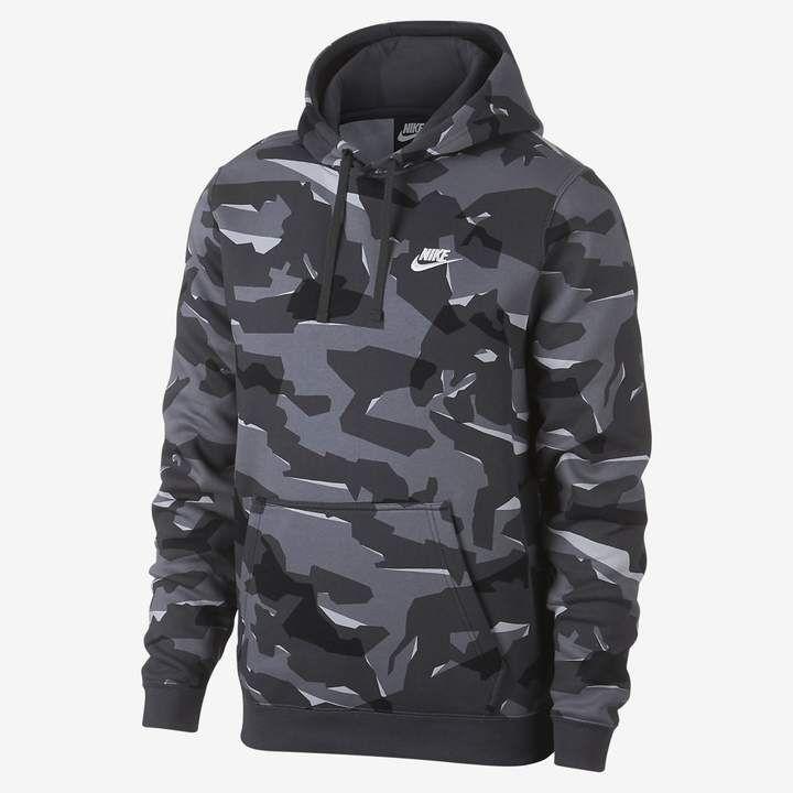 Nike Sportswear Club Men's Camo Pullover Hoodie   Mens