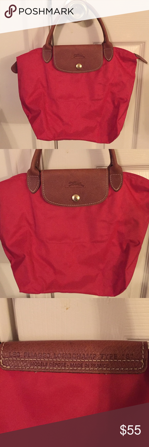 Red LongChamp France Purse Red LongChamp Small France Purse. Nice small bag. Like New. Cute and ready to carry! Longchamp Bags Mini Bags