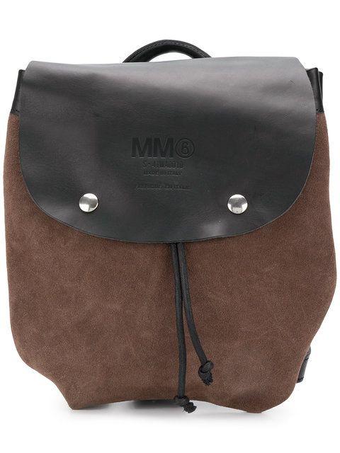 0e3d5616a9e4 Shop Mm6 Maison Margiela front logo backpack Best Travel Bags
