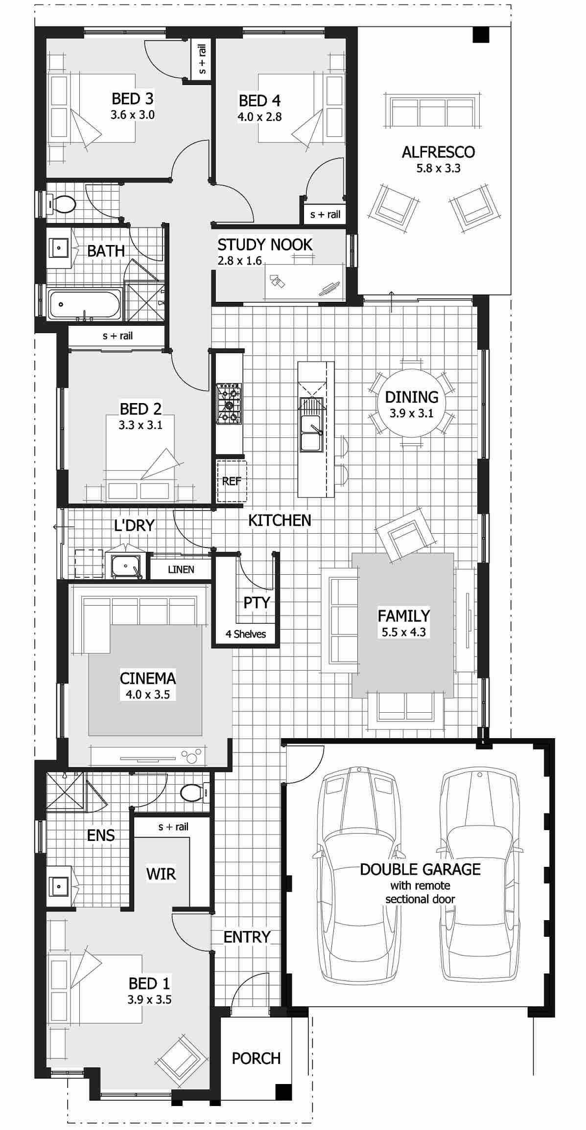 Single storey house plans narrow home design floor also kayla rosalia kaylarosalia on pinterest rh