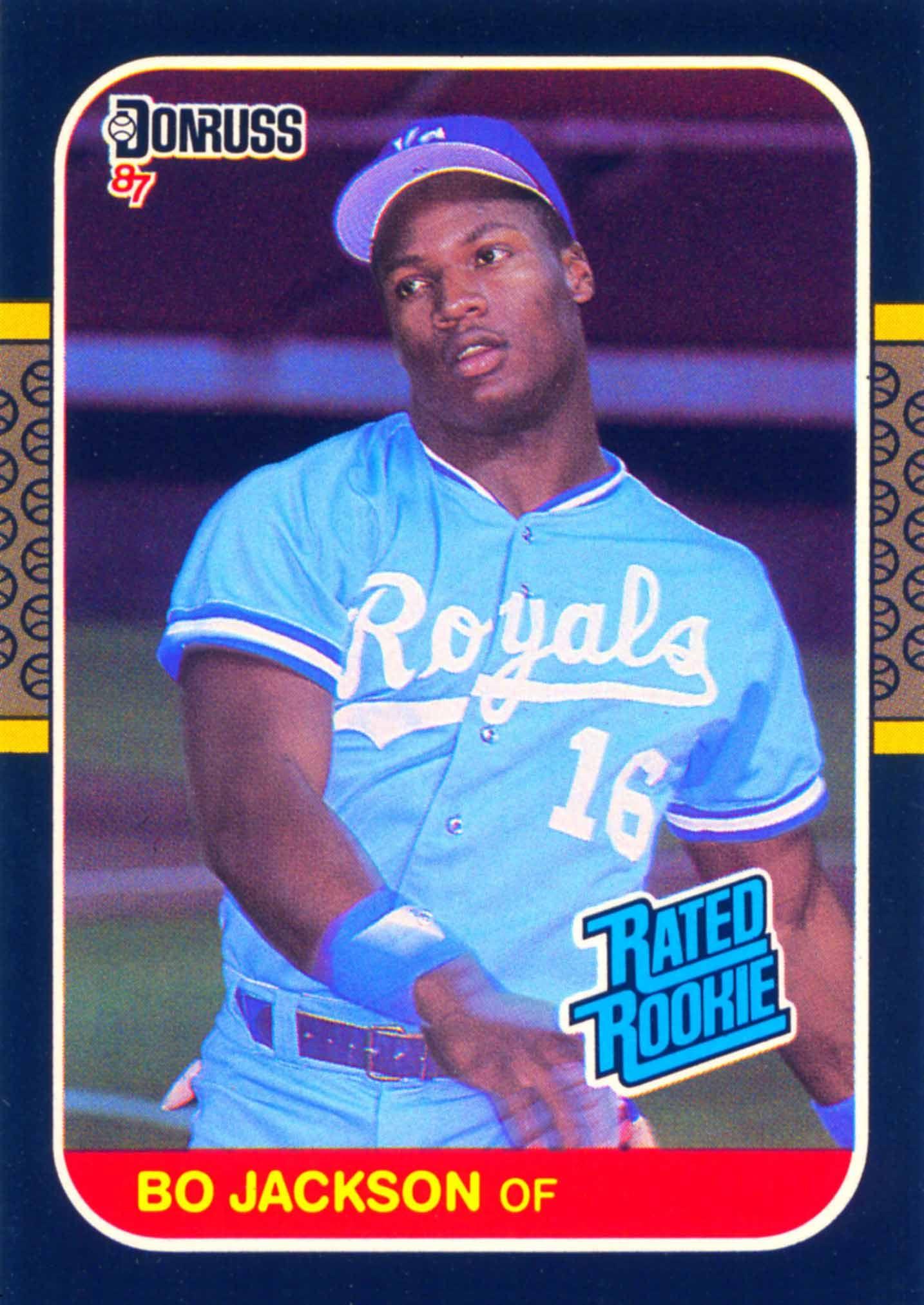 Bo Jackson Donruss Rated Rookie 1987 baseball card