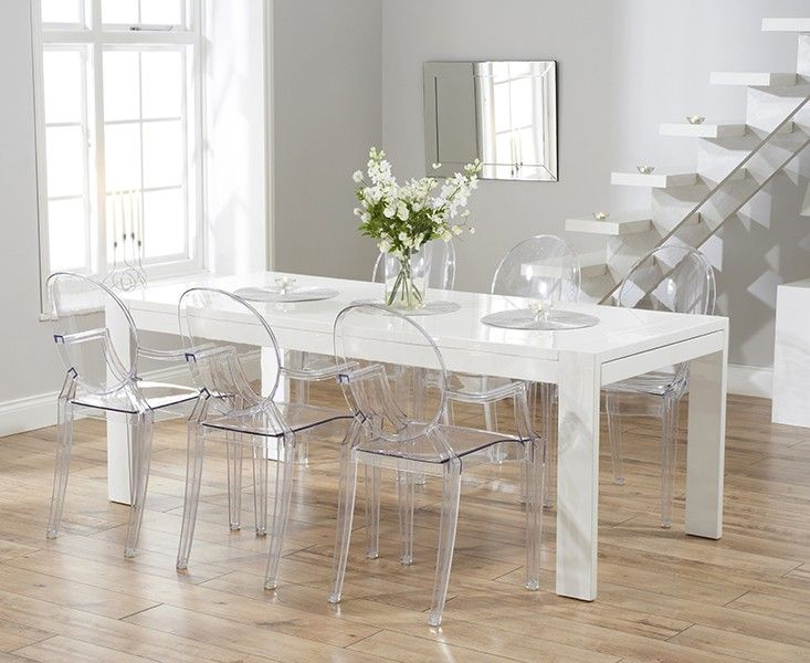 The Dining Table Is Complete With A Soft White Painted Finish For A Clean,  Stylish