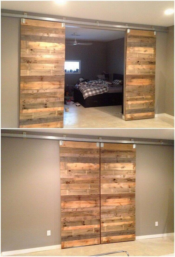 Photo of Tre-resirkulerte palldør-ideer #behandlet #wooden #ideas #pale