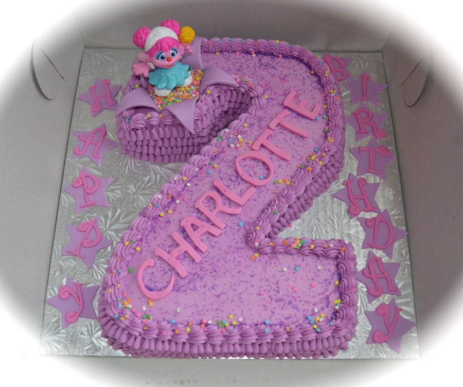 Abby Cadabby Birthday Cake For A Little Girl Turning 2 :)