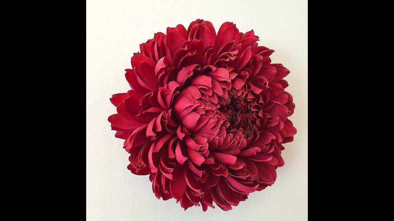 How To Make Big Tissue Paper Flowertutorial Pinterest