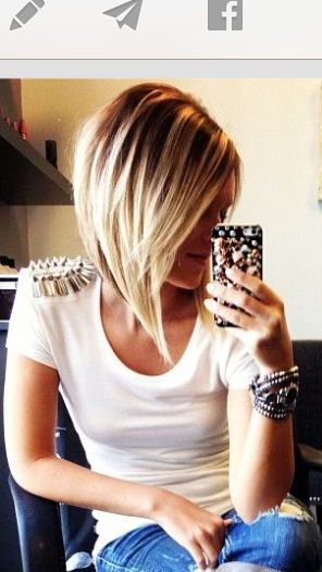 how to cut a long angled bob on yourself