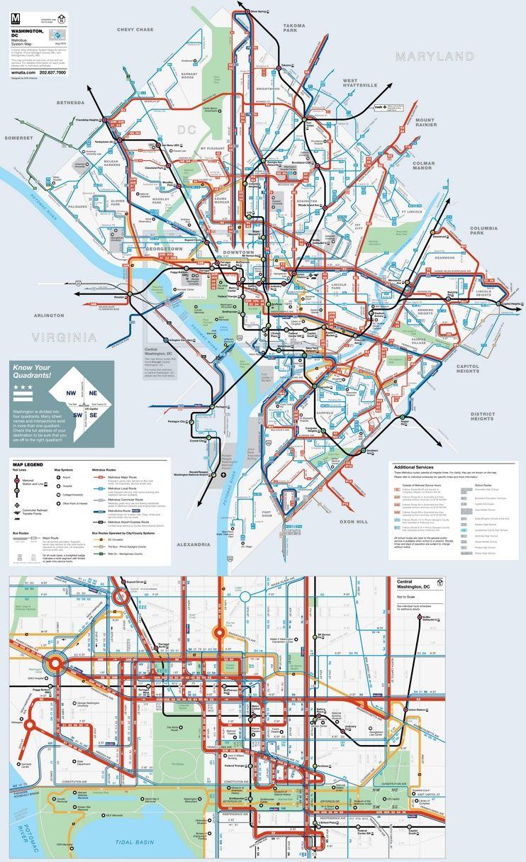 Washington, D.C. subway map | Maps | Pinterest | Subway map, Usa ...