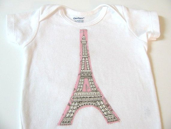 a38712db904 Baby Girl Gift Set Eiffel Tower Pink Grey Bib by ButterBrickleBaby