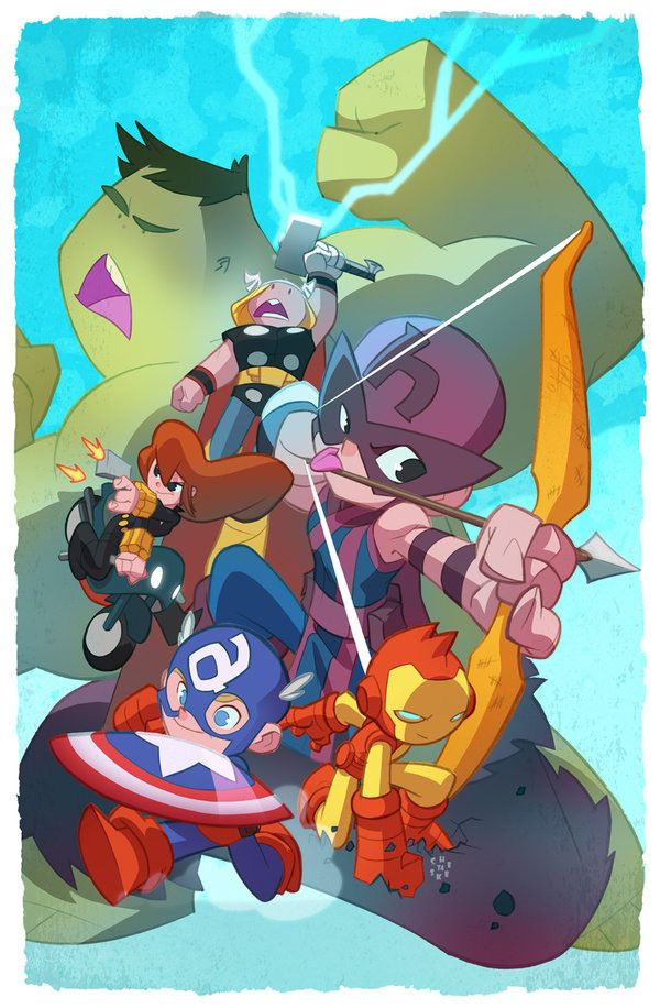 Comic Art By Sean Galloway Comic Art Marvel Comics Art Chibi
