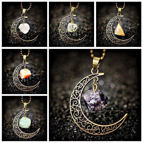 Wiccan pagan crescent moon bronze pendant native necklace wiccan pagan crescent moon bronze pendant native necklace spiritual tribal stone alternative knowledge pinterest bronze pendant crescents and aloadofball Choice Image