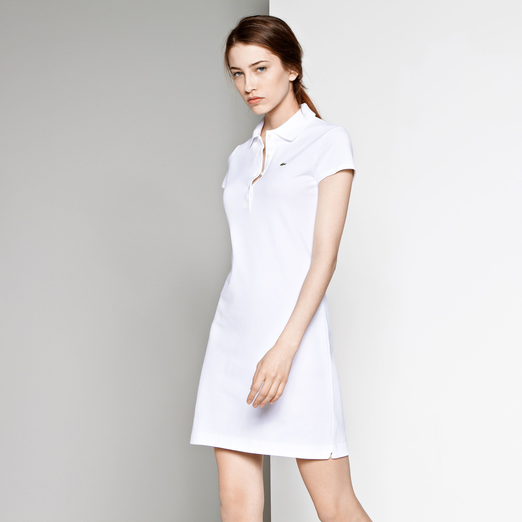 Lacoste polo dress white collar