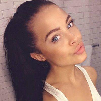 dark hair in a ponytail looks so tidy and easy to do