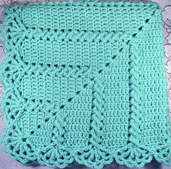 Granny Twist PDF Pattern Crocheted Baby Afghan CAR SEAT by ...