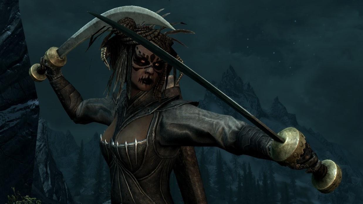 Skyrim Redguard Vampire