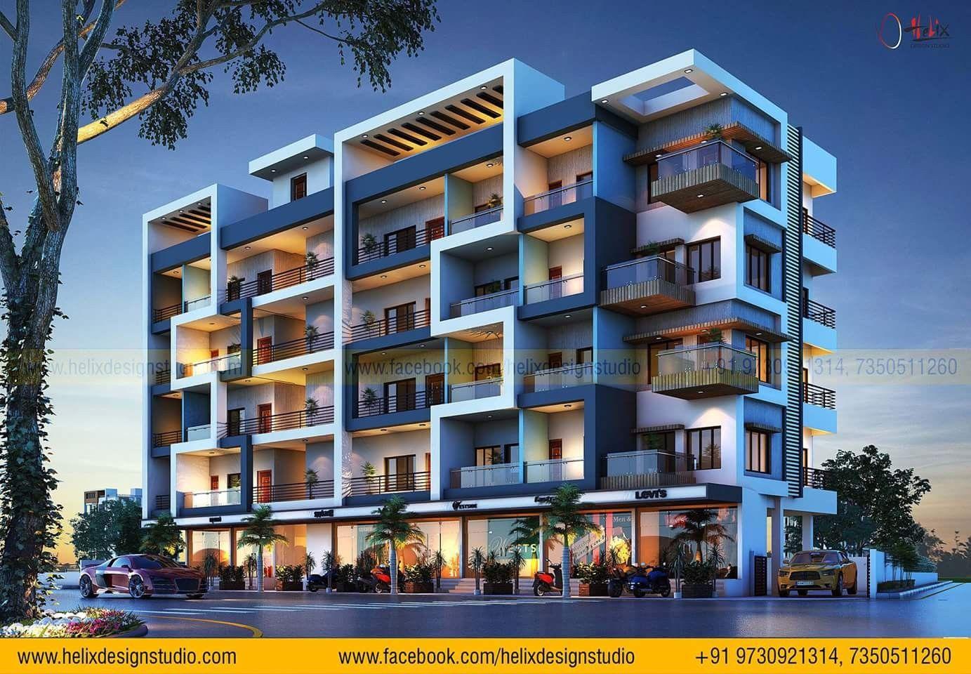 12 Story Modern Apartment Exterior Design Apartments Exterior