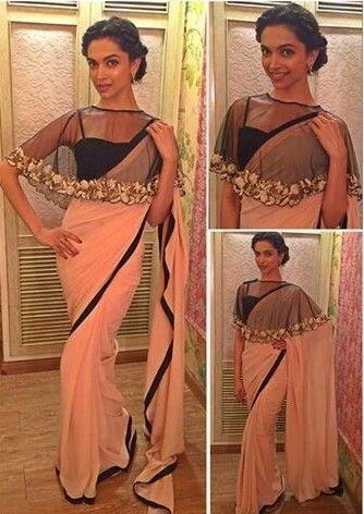 Deepika in a beautiful rosé saree | Deepika padukone saree ...