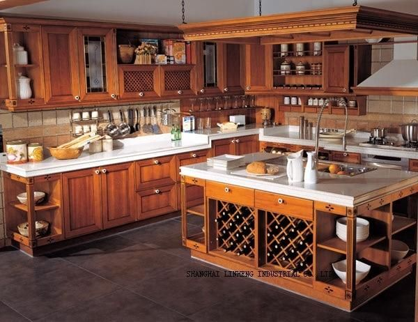 Classical cherry kitchen cabinets(LH-SW044) in 2020 ...